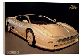 Wood print  Jaguar XJ220 - George Marshall