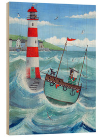 Wood print  Lighthouse - Peter Adderley