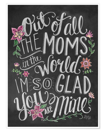 Premium poster The best mom of the world