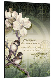 Aluminium print  Poem birds and flowers - Jody Bergsma