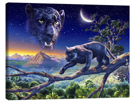 Canvas print  Twilight panther - Adrian Chesterman