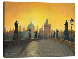 Canvas print  Misty Dawn, Charles Bridge, Prague - Richard Harpum