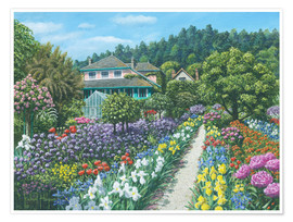 Poster  Monets Garden, Giverny - Richard Harpum
