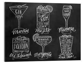 Acrylic print  Cocktail Recipes - Lily & Val