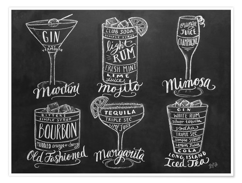 Premium poster Cocktail Recipes