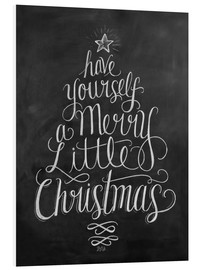 Foam board print  Merry Little Christmas - Lily & Val