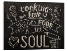 Wood print  Cooking With Love - Lily & Val