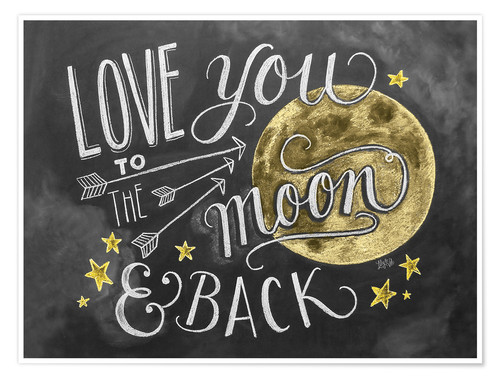 Premium poster Love you to the moon