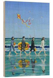 Wood print  Abbey Road Beach - Peter Adderley