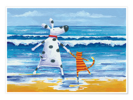 Premium poster  Duke and Sweetpea love paddling - Peter Adderley