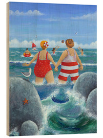 Wood print  I like to be at the coast - Peter Adderley
