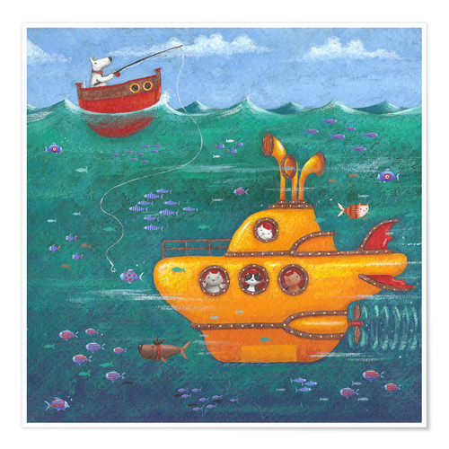 Bedroom Decor Turquoise And Brown Bedroom Ideas Nature Bedroom Sets Uk Bedroom Sets With Mattress: Peter Adderley Yellow Submarine Poster