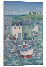 Wood print  Harbour gifts - Peter Adderley