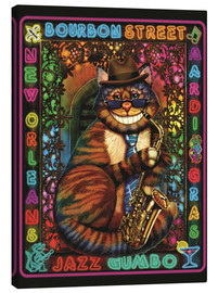 Canvas print  Jazz Cat - Lewis T. Johnson
