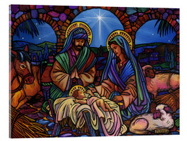 Acrylic glass  Stained Glass Nativity - Lewis T. Johnson