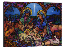 Alu-Dibond  Stained Glass Nativity - Lewis T. Johnson