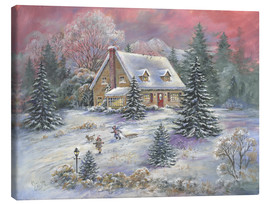 Canvas print  Christmas at Dusk - Mimi Jobe