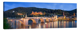 Canvas print  Heidelberg skyline panorama at night with castle and Old Bridge - Jan Christopher Becke