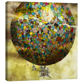 Canvas print  Up, up and away - Colin Thompson