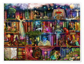 Poster  Treasure hunt book shelf - Aimee Stewart