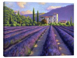 Canvas  Lavender field with Abbey - Jay Hurst