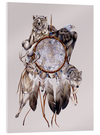 Acrylic print  Dream catcher - Jody Bergsma