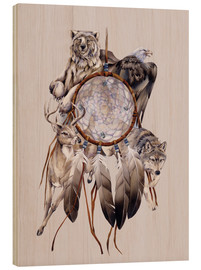 Wood print  Dream catcher - Jody Bergsma