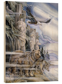 Wood print  The three watchmen - Jody Bergsma