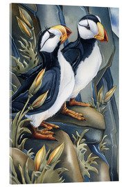 Acrylic glass  Two pretty beaks - Jody Bergsma