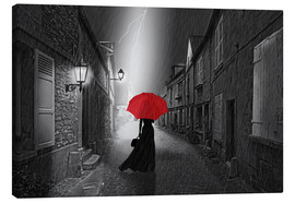 Canvas print  The woman with the red umbrella - Monika Jüngling