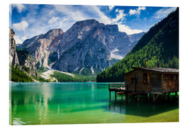 Acrylic print  Lake Prags, South Tyrol - Reiner Würz RWFotoArt