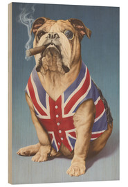Wood print  British bulldog - Andrew Farley