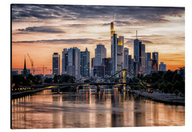 Aluminium print  Frankfurt Skyline Sunset Skyscrapers - Frankfurt am Main Sehenswert