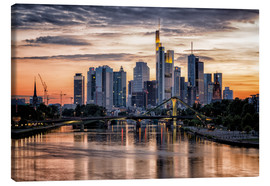 Canvas  Frankfurt Skyline Sunset Skyscrapers - Frankfurt am Main Sehenswert