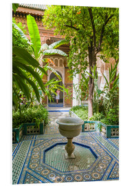 Foam board print  Bahia Palace in Marrakech - Nico Tondini