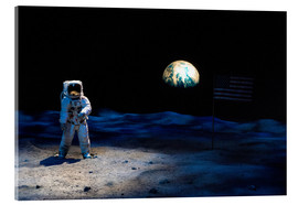 Acrylic print  Astronaut on the moon - Jim Engelbrecht