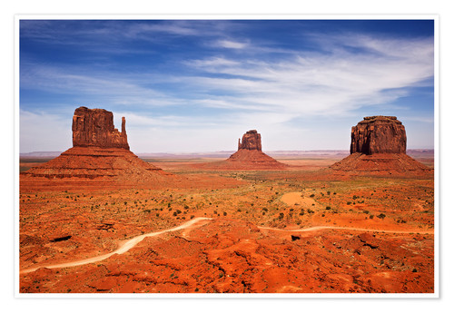 Premium poster View of Monument Valley