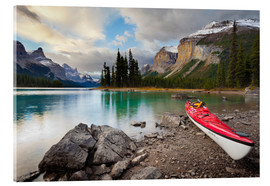 Acrylic print  Kayak on the mountain lake - Gary Luhm