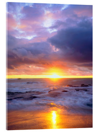 Acrylic print  Evening at the Sunset Cliffs - Christopher Talbot Frank