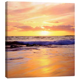 Canvas print  Sunset on the Pacific - Christopher Talbot Frank