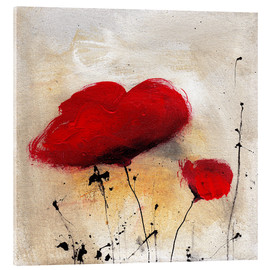 Acrylic glass  Poppies I - Vittorio Vitale
