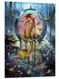 Foam board print  Red Mermaid - Ciro Marchetti