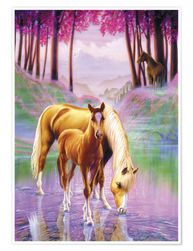 Premium poster Horse and foal