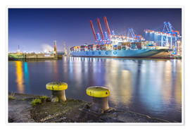Poster  Container Terminal Tollerort - PhotoArt Hartmann
