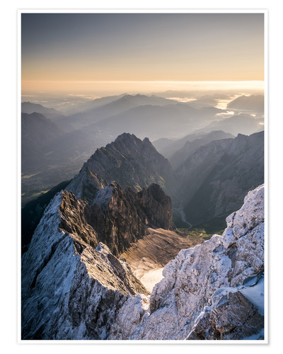 Premium poster View over the Alps from Zugspitze