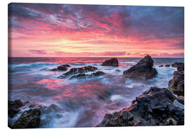 Canvas print  Sunset in Lanzarote at Los Hervideros - Andreas Wonisch