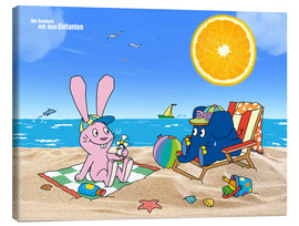 Canvas print  Elephant and Hare go on holiday