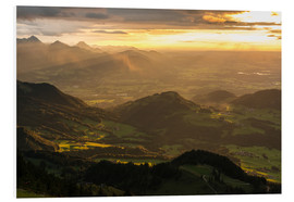 Foam board print  View from Hochries Mountain in the Bavarian Alps - Markus Ulrich
