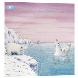 Acrylic print  The Little Polar Bear at splash