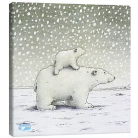Canvas print  The Little Polar Bear on the back